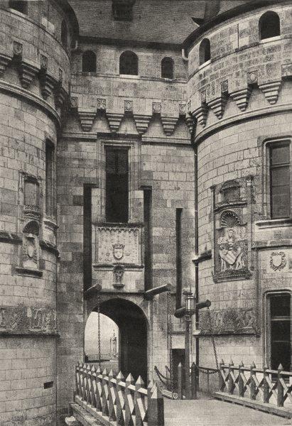 Associate Product HAUTE- MARNE. Chaumont. Entrée Pont- Levis 1895 old antique print picture