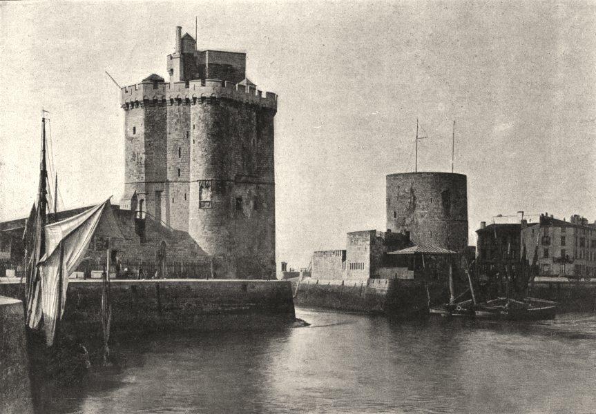 Associate Product CHARENTE- MARITIME. La Rochelle. Tour St- Nicolas 1895 old antique print