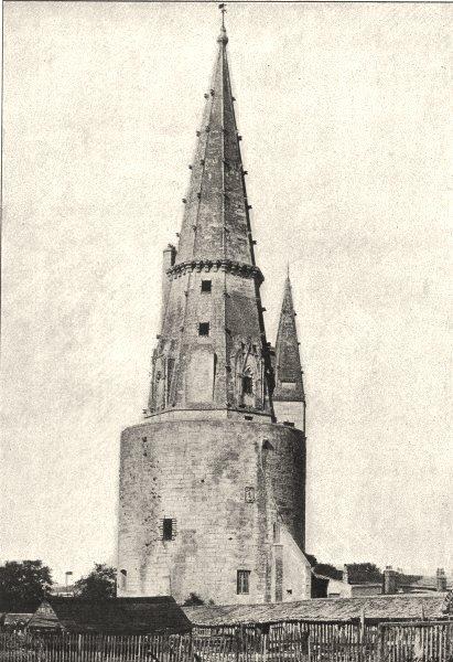 Associate Product CHARENTE- MARITIME. La Rochelle. Tour de Lanterne 1895 old antique print