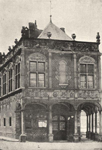 Associate Product PAS- DE- CALAIS. Aire. Maison du Baillage 1895 old antique print picture