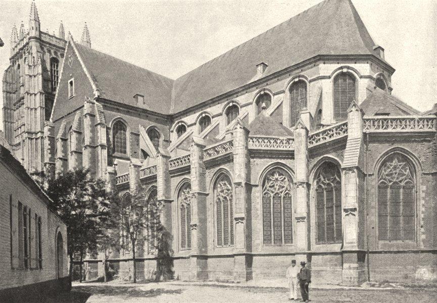 PAS- DE- CALAIS. Aire. Église 1895 old antique vintage print picture
