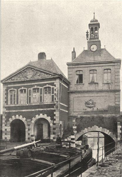 Associate Product PAS- DE- CALAIS. St- Omer. Porte de Dunkerque 1895 old antique print picture