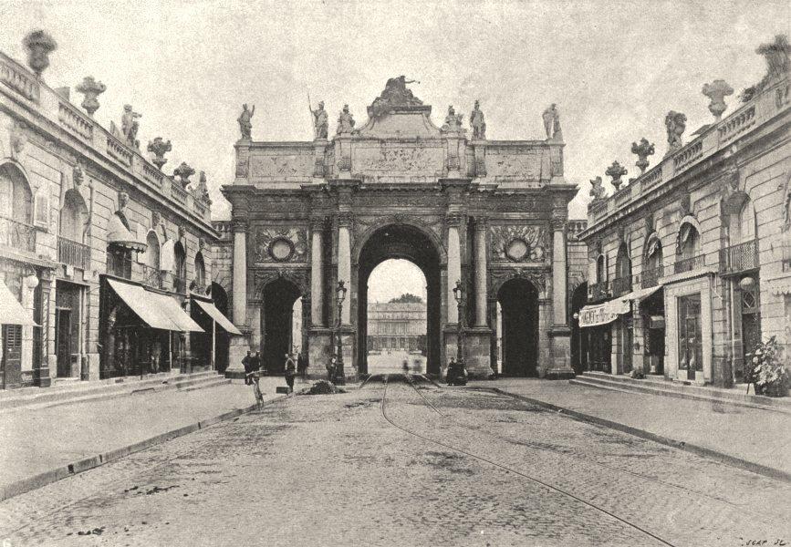 Associate Product MEURTHE- ET- MOSELLE. Nancy. Arc de Triomphe 1895 old antique print picture