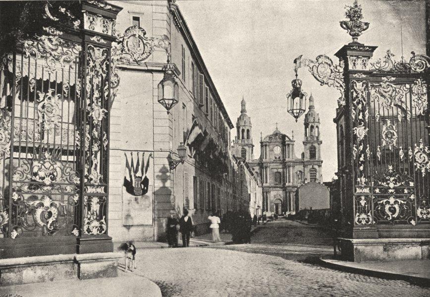 MEURTHE- ET- MOSELLE. Nancy. Cathédrale. Ensemble 1895 old antique print