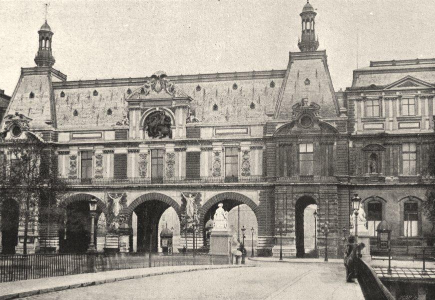 Associate Product PARIS. Louvre. Guichets 1895 old antique vintage print picture