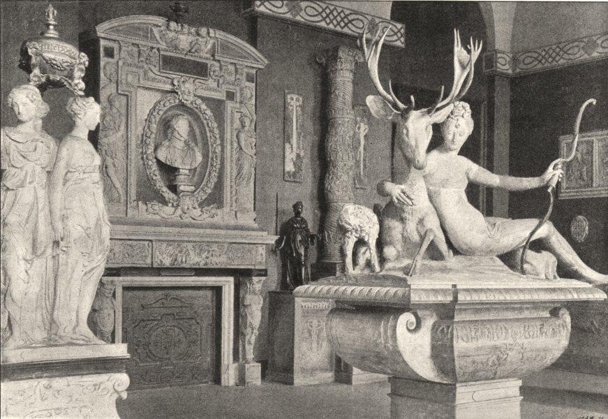 Associate Product PARIS. Louvre. Salle Jean Goujon 1895 old antique vintage print picture