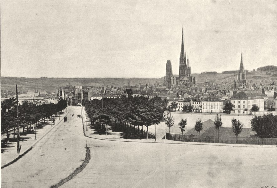 Associate Product SEINE- MARITIME. Rouen. Générale 1895 old antique vintage print picture