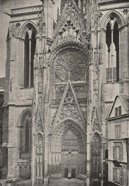Associate Product SEINE- MARITIME. Rouen. Cathédrale. Transept Sud 1895 old antique print