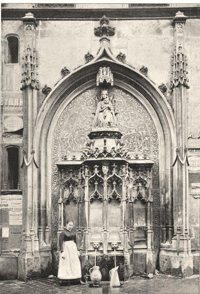 Associate Product SEINE- MARITIME. Rouen. Fontaine de Croce 1895 old antique print picture
