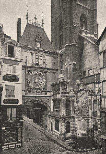 Associate Product SEINE- MARITIME. Rouen. Grosse Horloge 1895 old antique vintage print picture