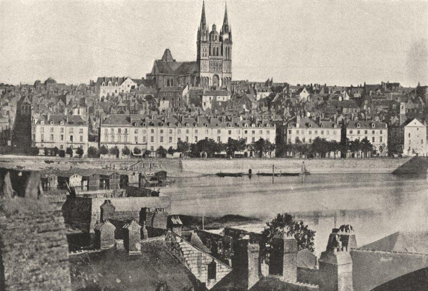 Associate Product MAINE- ET- LOIRE. Angers. Générale Cathédrale 1895 old antique print picture