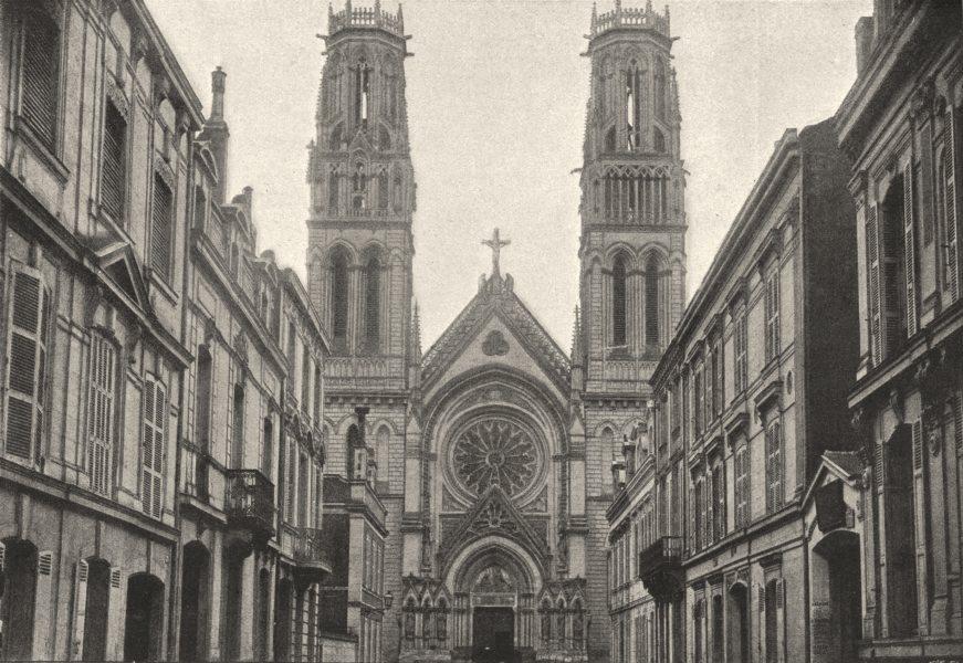 Associate Product MAINE- ET- LOIRE. Angers. Église St- Joseph 1895 old antique print picture