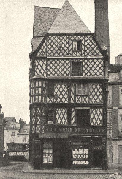 Associate Product MAINE- ET- LOIRE. Angers. Maison D'Adam 1895 old antique vintage print picture