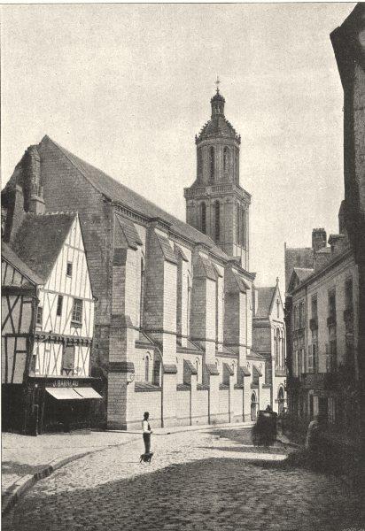 Associate Product MAINE- ET- LOIRE. Angers. Trinité 1895 old antique vintage print picture