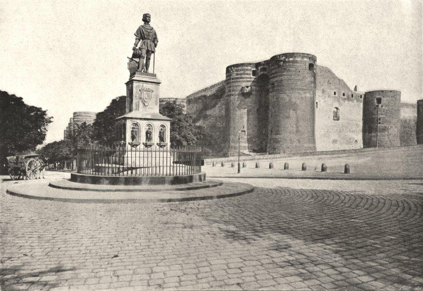 Associate Product MAINE- ET- LOIRE. Angers. Statue du Roi René 1895 old antique print picture