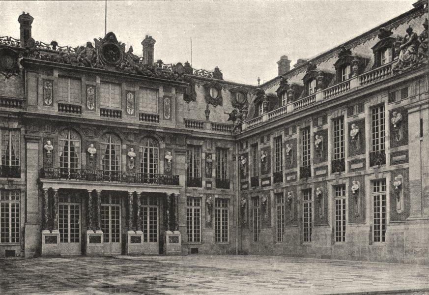 Associate Product YVELINES. Versailles. Cour de Marbre 1895 old antique vintage print picture