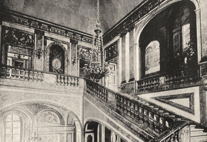 Associate Product YVELINES. Versailles. Escalier de Marbre 1895 old antique print picture