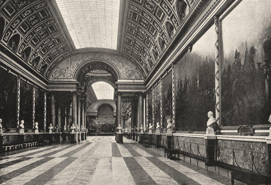 Associate Product YVELINES. Versailles. Galerie des Batailles 1895 old antique print picture