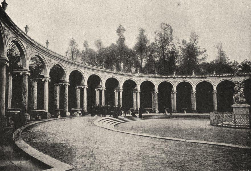 Associate Product YVELINES. Versailles. Colonnade 1895 old antique vintage print picture