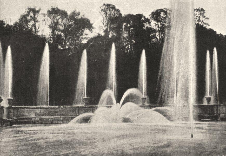 Associate Product YVELINES. Versailles. Bassin de Neptune 1895 old antique vintage print picture