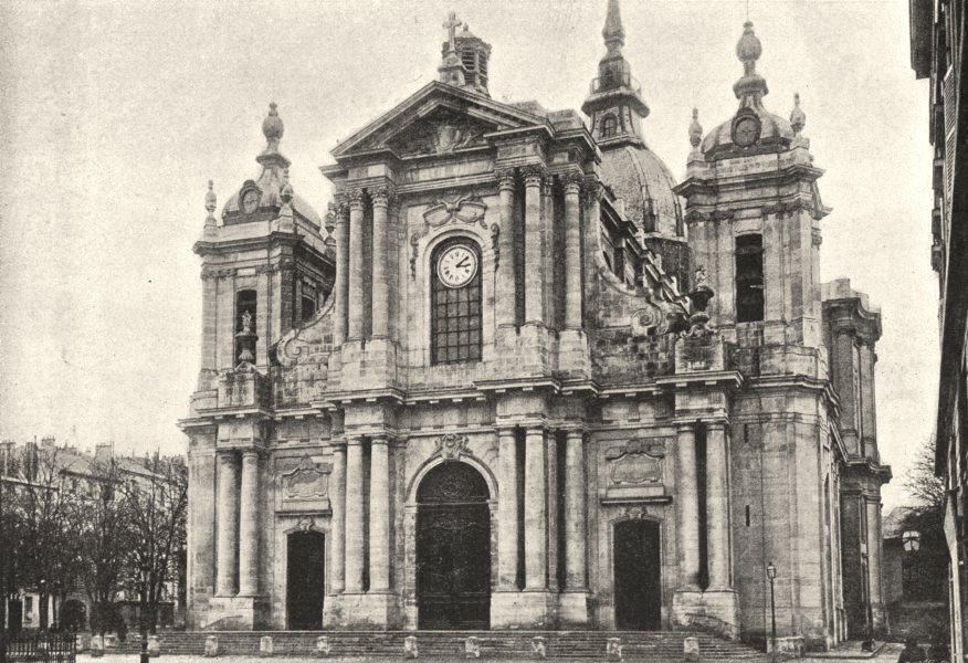 Associate Product YVELINES. Versailles. Cathédrale 1895 old antique vintage print picture