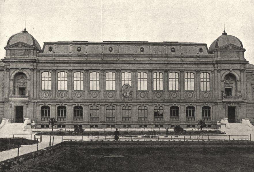 Associate Product PARIS. Muséum. Galeries de Zoologie. Extérieur 1895 old antique print picture