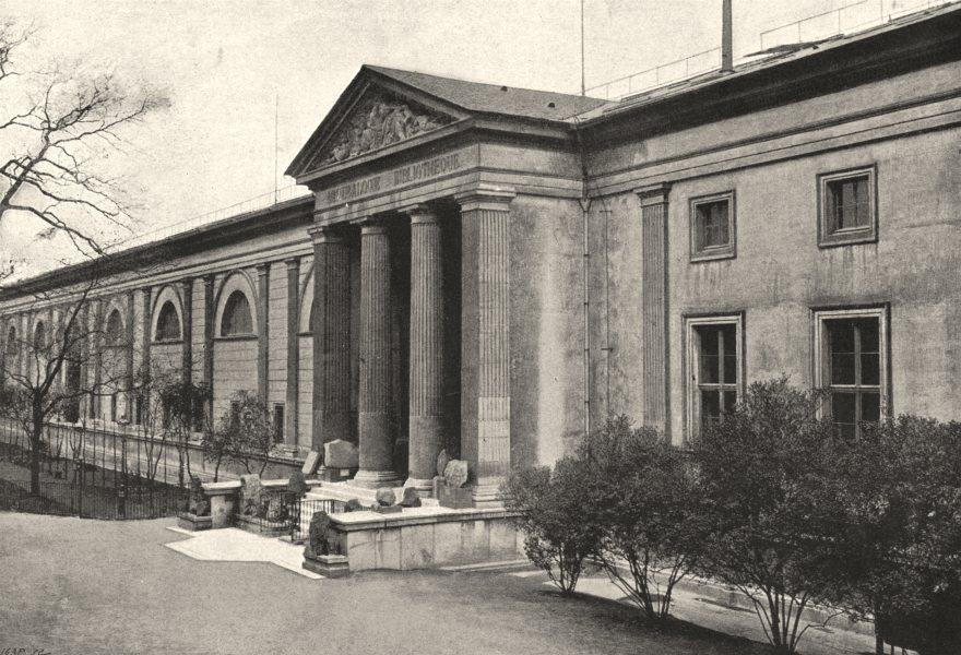 Associate Product PARIS. Muséum. Galeries de Minéralogie 1895 old antique vintage print picture