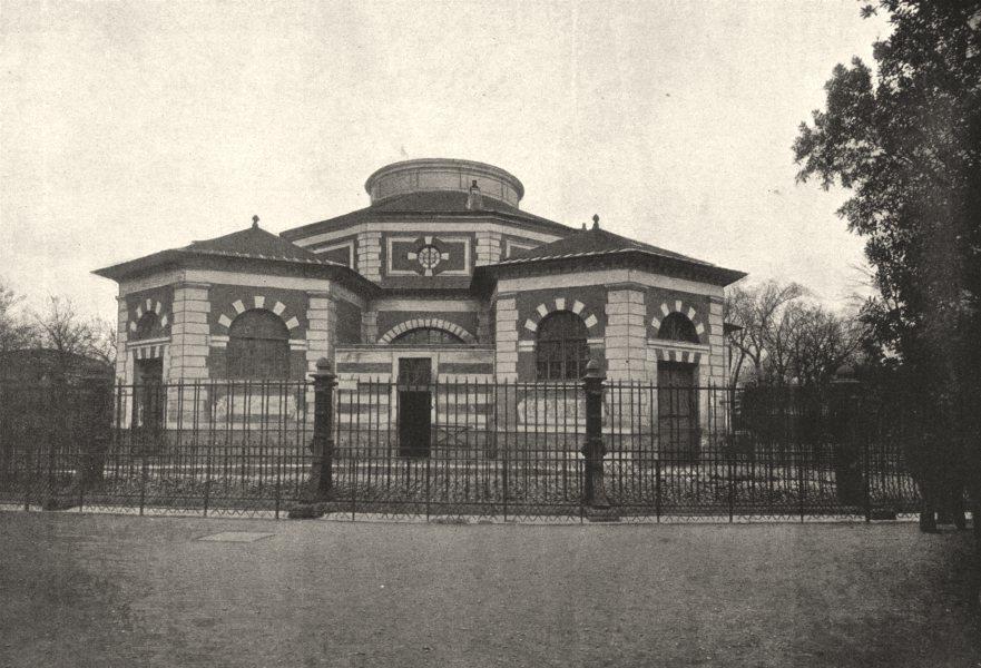 Associate Product PARIS. Muséum. Rotonde des Pachydermes 1895 old antique vintage print picture