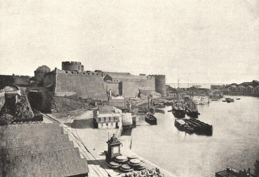Associate Product FINISTÈRE. Brest. Chateau 1895 old antique vintage print picture