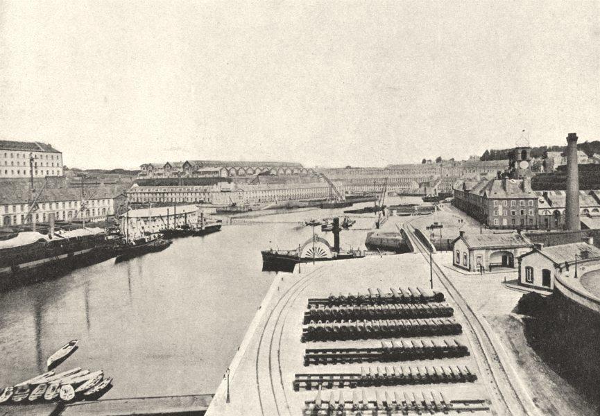 Associate Product FINISTÈRE. Brest. port Militaire 1895 old antique vintage print picture