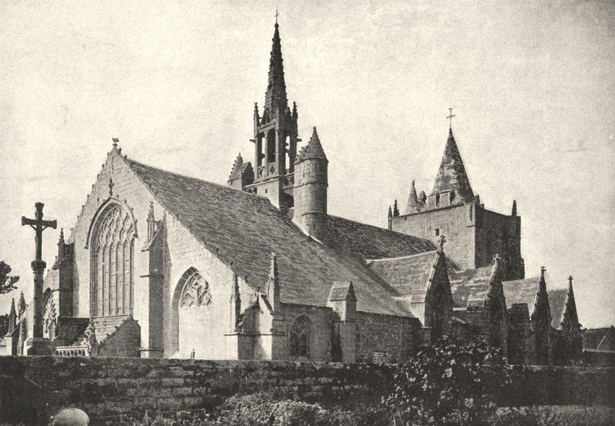 Associate Product FINISTÈRE. Penmarch. Église 1895 old antique vintage print picture