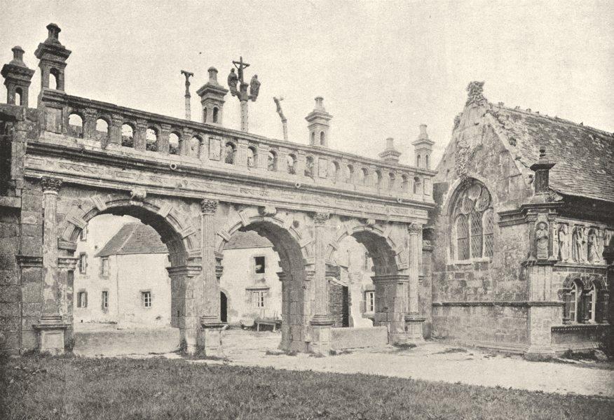 Associate Product PARIS. Sizun. Arc- de- Triomphe 1895 old antique vintage print picture