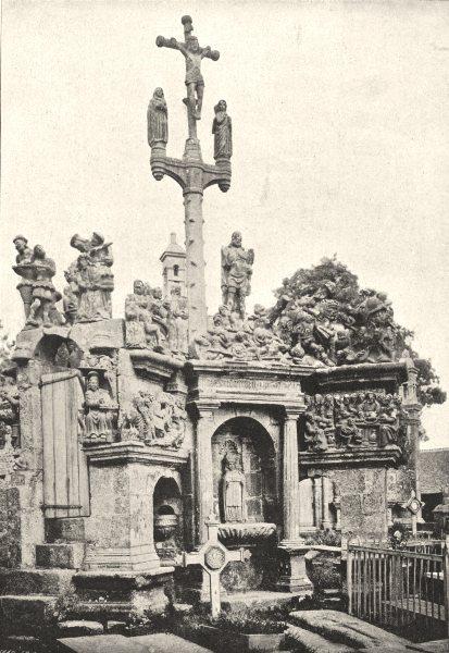 Associate Product FINISTÈRE. Guimiliau. Caaire 1895 old antique vintage print picture