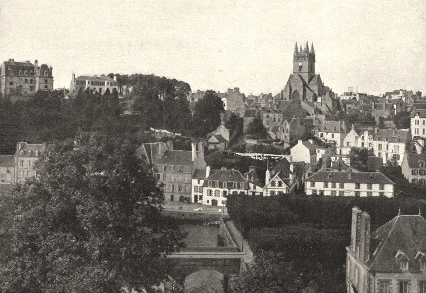 Associate Product FINISTÈRE. Quimperlé. Générale 1895 old antique vintage print picture