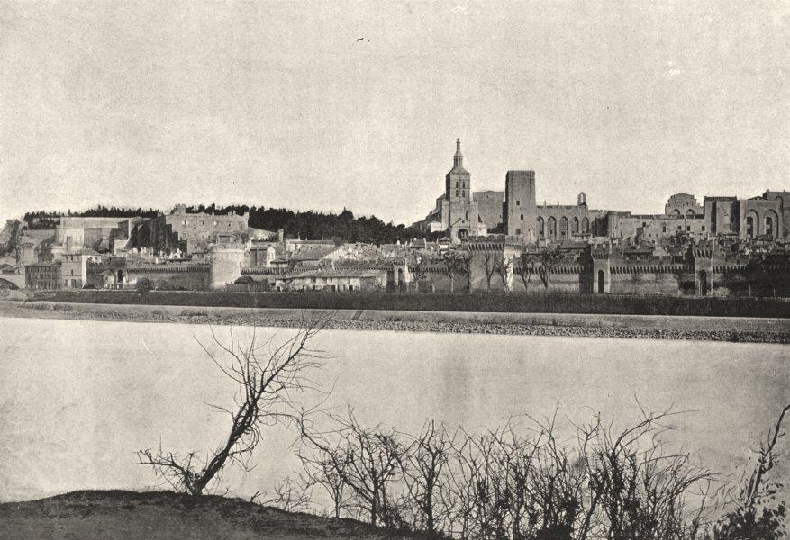 Associate Product VAUCLUSE. Avignon. Générale Chateau des Papes 1895 old antique print picture