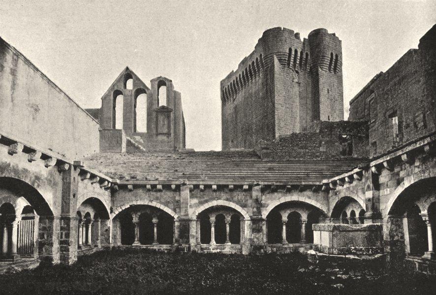 Associate Product BOUCHES- DU- RHÔNE. Montmajour. Abbaye 1895 old antique vintage print picture