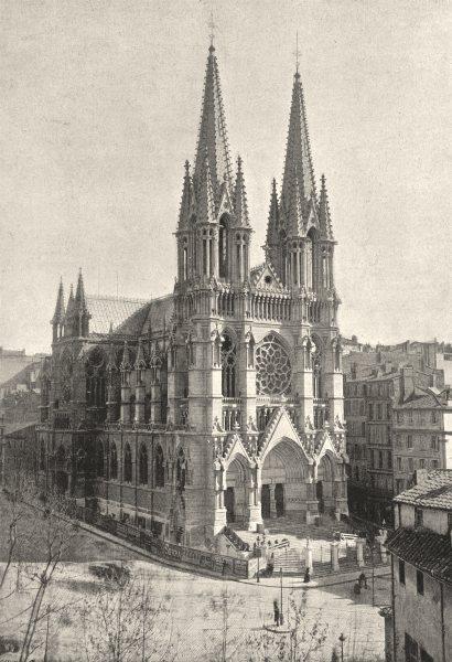 BOUCHES- DU- RHÔNE. Marseille. St- Vincent- de- Paul 1895 old antique print