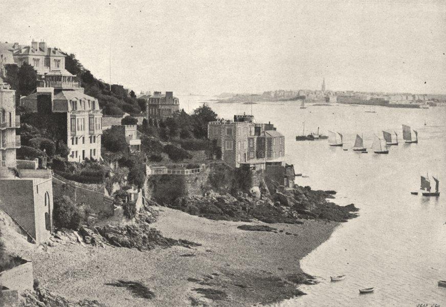 Associate Product ILLE- ET- VILAINE. Dinard. Prise du Côté de St- Malo 1895 old antique print