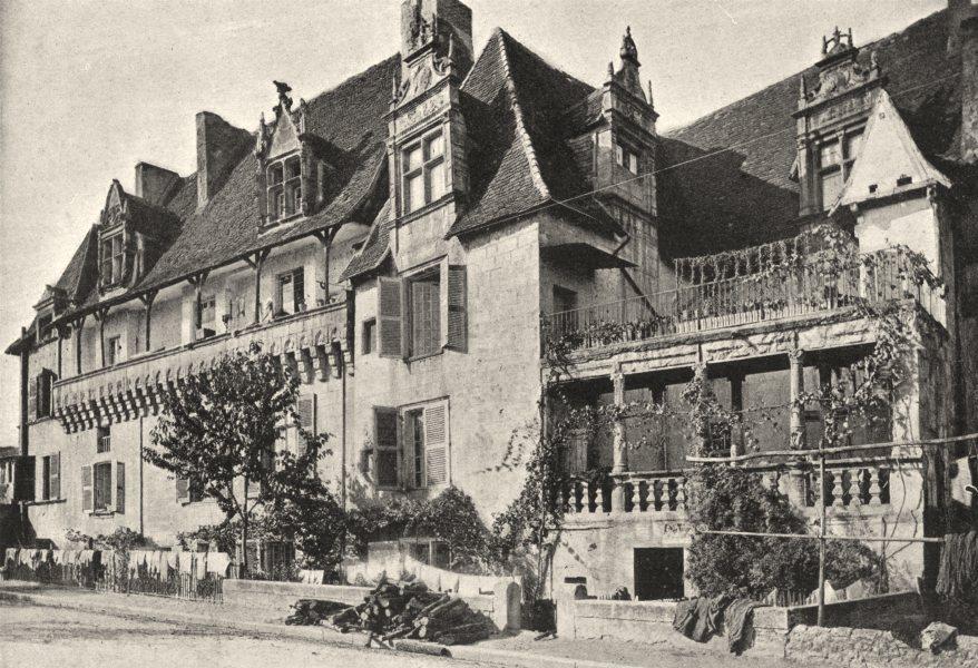 Associate Product DORDOGNE. Périgueux. Vieilles Maisons 1895 old antique vintage print picture