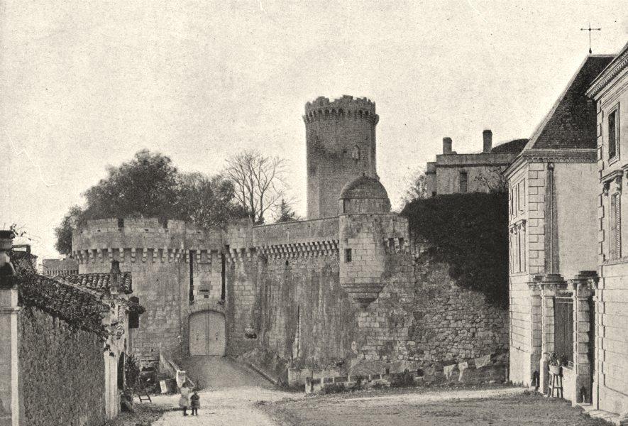DORDOGNE. Bourdeilles. Chateau 1895 old antique vintage print picture