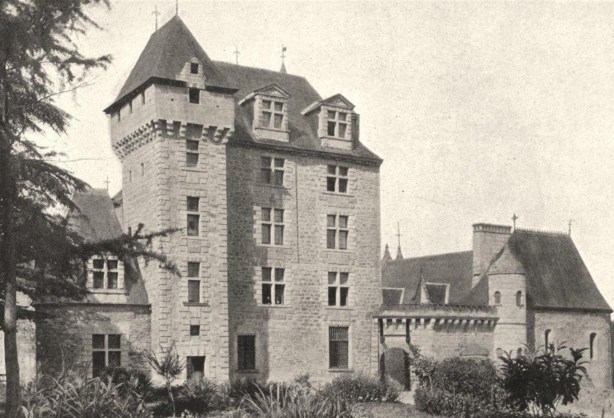 Associate Product DORDOGNE. Fayrac. Chateau 1895 old antique vintage print picture