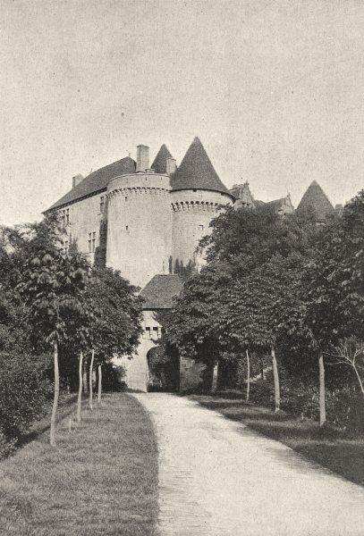 Associate Product DORDOGNE. Chateau de Fénelon 1895 old antique vintage print picture
