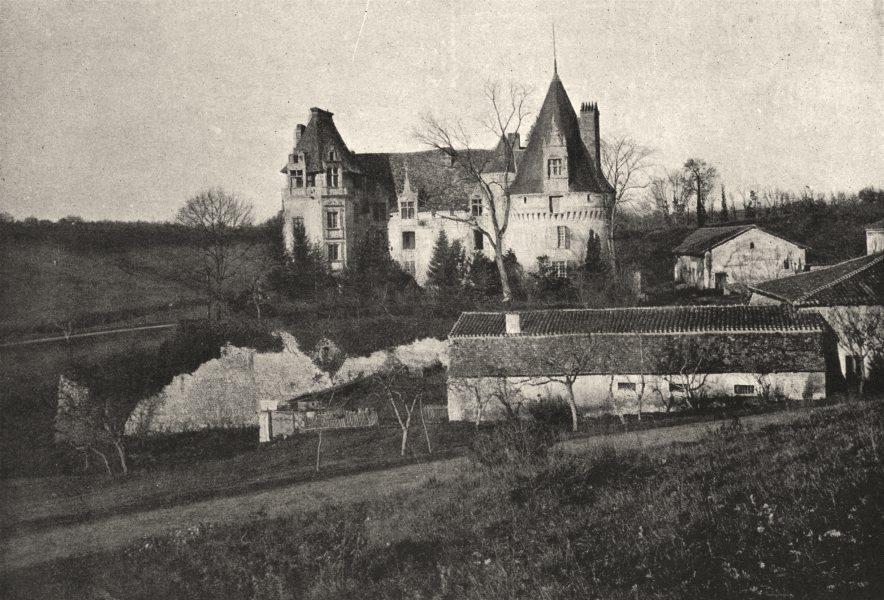 Associate Product VILLARS. Puyguilhem 1895 old antique vintage print picture
