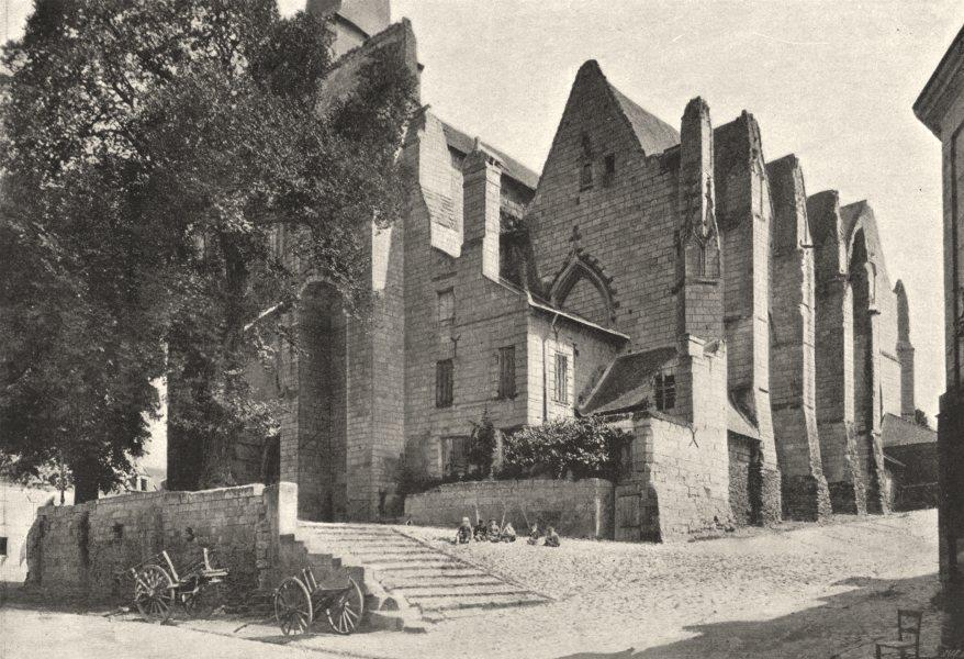 Associate Product MAINE- ET- LOIRE. Saumur. Notre- Dame de Nantilly 1895 old antique print