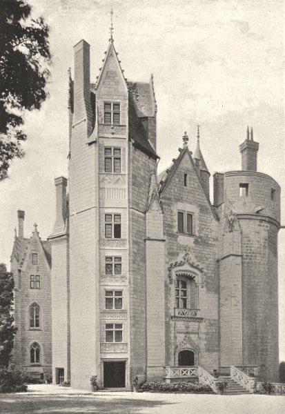 Associate Product MAINE- ET- LOIRE. Montreuil- Bellay. Cour du Chateau 1895 old antique print