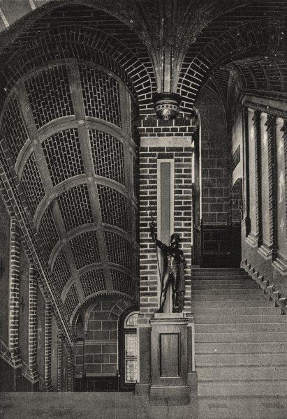 Associate Product FRANCE. St- Germain. Escalier du Chateau 1895 old antique print picture