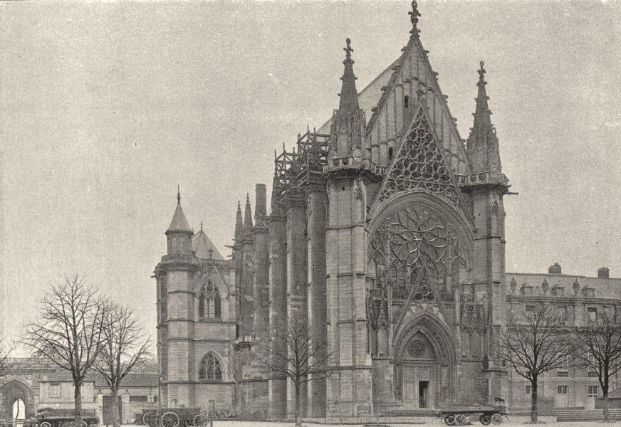 Associate Product VAL- DE- MARNE. Vincennes. Chapelle 1895 old antique vintage print picture
