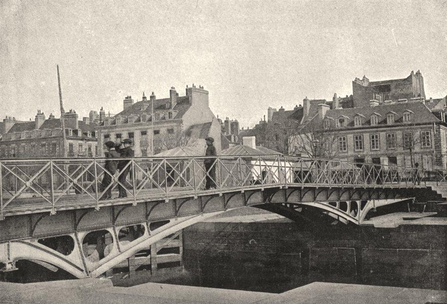 Associate Product MORBIHAN. Lorient. Pont Tournant 1895 old antique vintage print picture