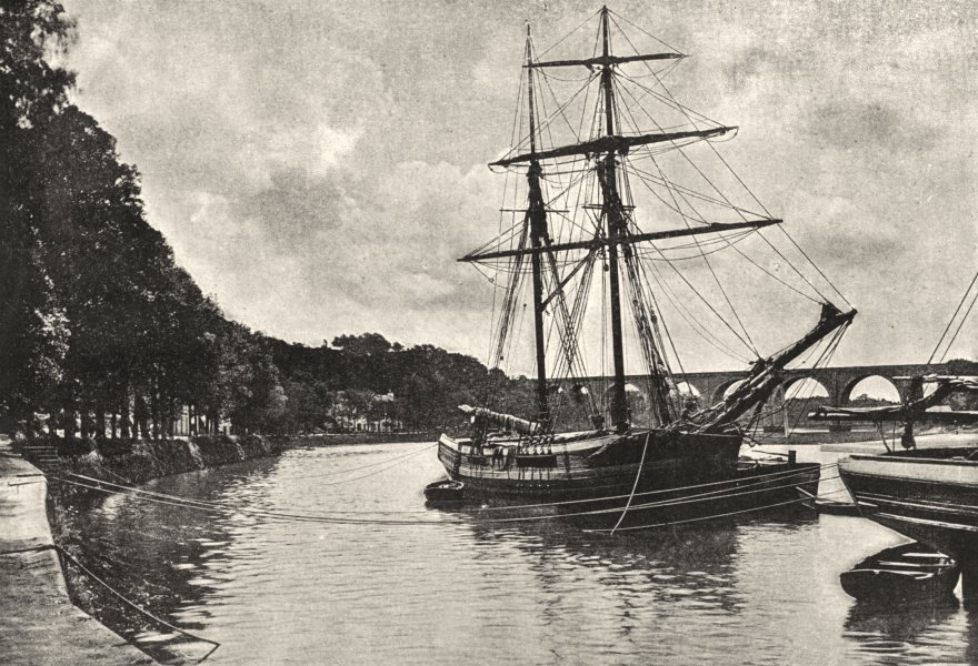 Associate Product MORBIHAN. Hennebont. Blavet 1895 old antique vintage print picture