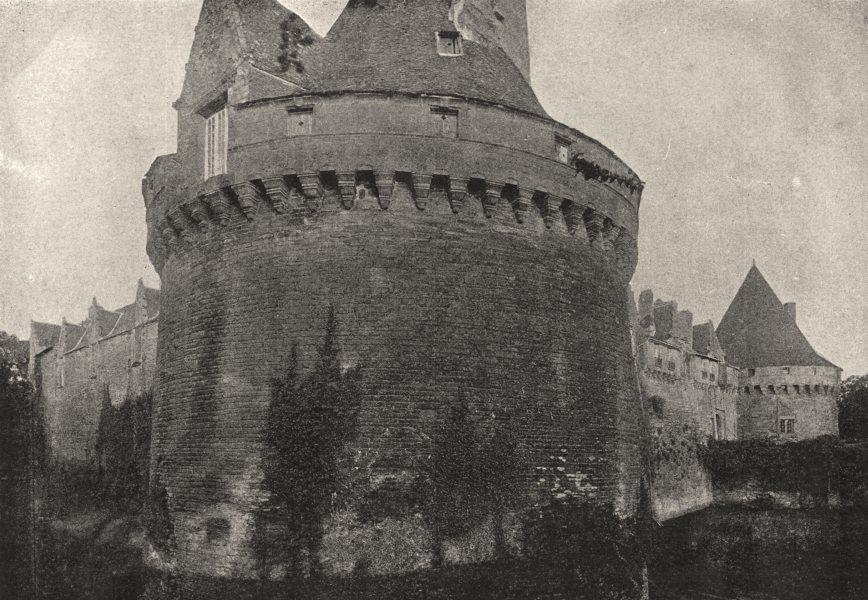 Associate Product MORBIHAN. Pontivy. Chateau 1895 old antique vintage print picture